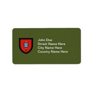 Portuguese Army Commandos Personalized Address Label