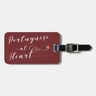 Portuguese At Heart Luggage Tag Template, Portugal