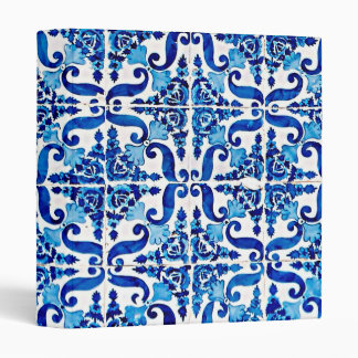Portuguese Azulejo Signature Ring Binder