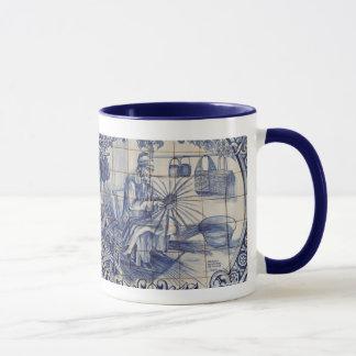 Portuguese azulejo tiles mug