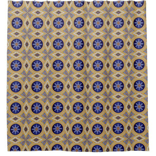 Portuguese blue and yellow ceramic tile pattern