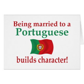 Portuguese Builds Character Greeting Card