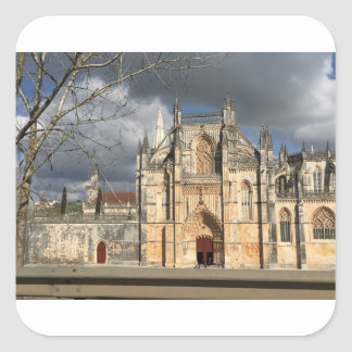 Portuguese castle square sticker