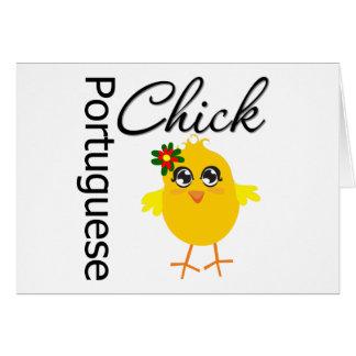 Portuguese Chick Card