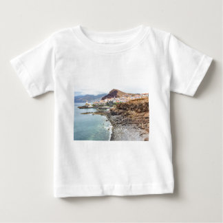 Portuguese coast with sea beach mountains village baby T-Shirt