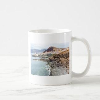 Portuguese coast with sea beach mountains village coffee mug