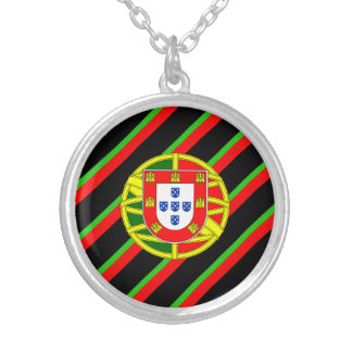 Portuguese Coat of arms Silver Plated Necklace
