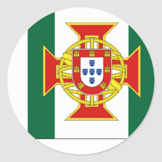 Portuguese Colony Governor, Portugal flag Classic Round Sticker