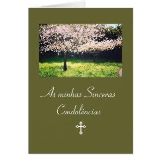 Portuguese: Condolencias / Pesames /Sympathy Card