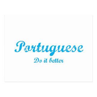 Portuguese  do it better postcard