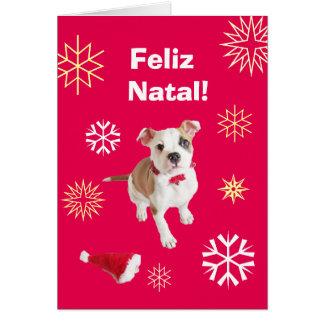 Portuguese: Feliz Natal! Merry Christmas! Greeting Card