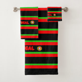 Portuguese flag bath towel set