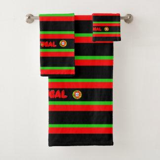 Portuguese flag bath towel set