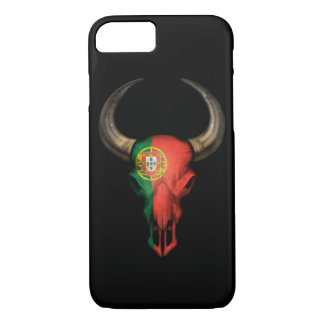 Portuguese Flag Bull Skull iPhone 7 Case