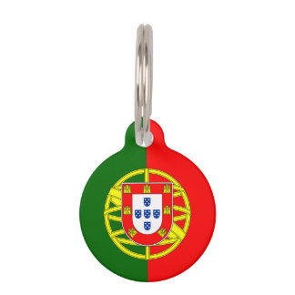 Portuguese flag custom pet tag for dog or cat