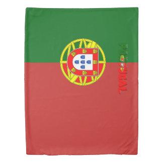 Portuguese flag duvet cover