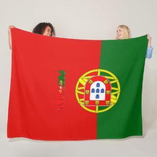 Portuguese flag fleece blanket