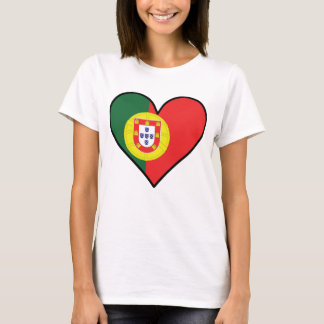 Portuguese Flag Heart T-Shirt