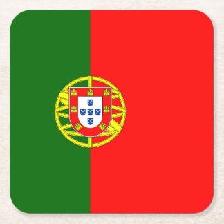 Portuguese flag of Portugal paper drink coasters