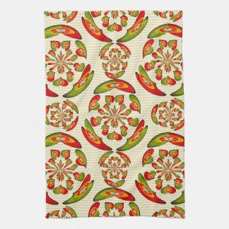 Portuguese flag pattern kitchen towel