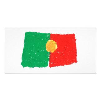 Portuguese Flag Customized Photo Card