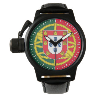 Portuguese flag quality wrist watch