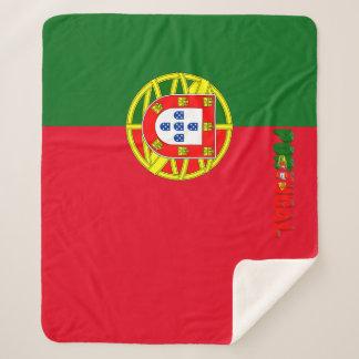 Portuguese flag sherpa blanket