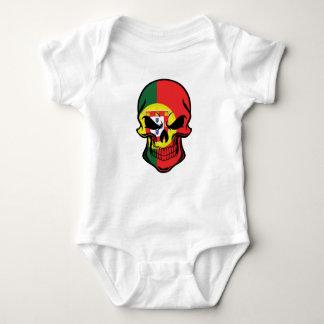 Portuguese Flag Skull Baby Bodysuit