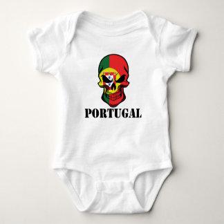 Portuguese Flag Skull Portugal Baby Bodysuit