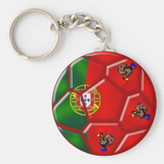 Portuguese flag soccer ball for das Quinas Tees Keychain