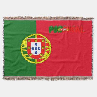Portuguese flag throw blanket