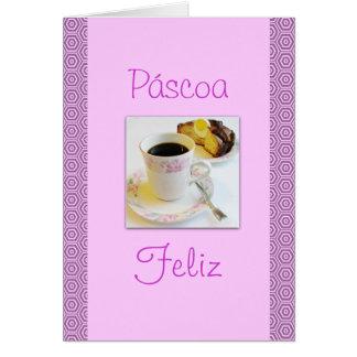 Portuguese: Folar de Páscoa / Easter cake Card