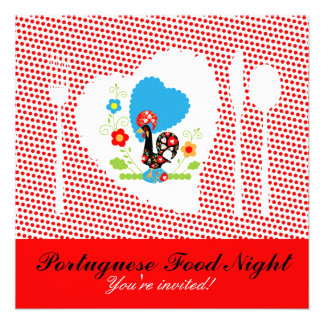 Portuguese Food Night Personalized Invitations