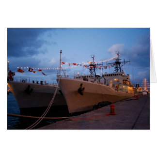 Portuguese frigates greeting card