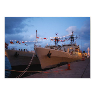 Portuguese frigates 5x7 paper invitation card