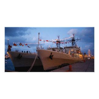 Portuguese frigates personalized photo card
