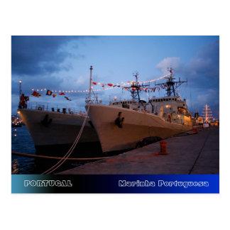 Portuguese frigates postcard