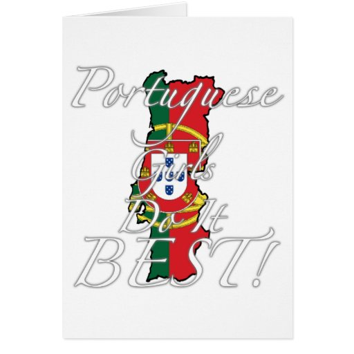 Portuguese Girls Do It Best! Cards