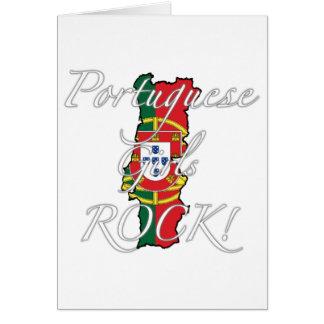 Portuguese Girls Rock! Greeting Card