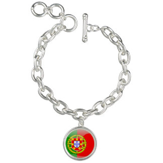 Portuguese glossy flag charm bracelets