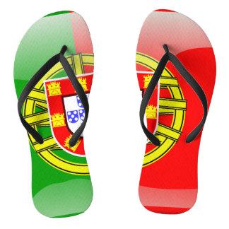 Portuguese glossy flag flip flops
