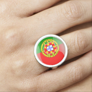 Portuguese glossy flag photo rings