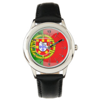 Portuguese glossy flag wrist watches