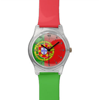Portuguese glossy flag wristwatch