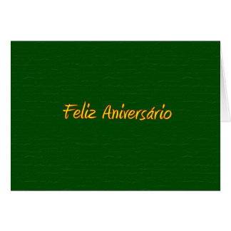Portuguese Happy Birthday Card