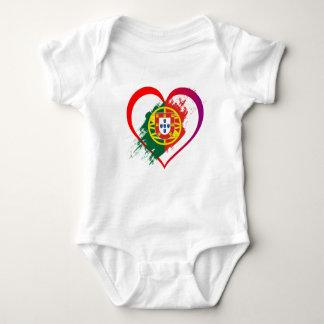 Portuguese heart baby bodysuit