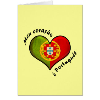 Portuguese heart greeting cards