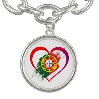 Portuguese heart charm bracelet