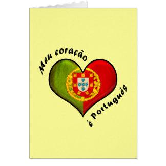 Portuguese heart greeting card