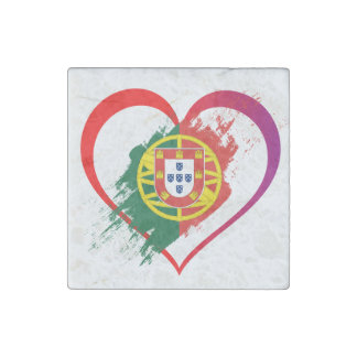 Portuguese heart stone magnets